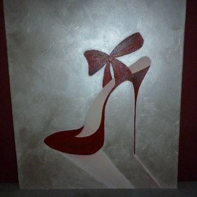 Tableau moderne en forme de chaussure