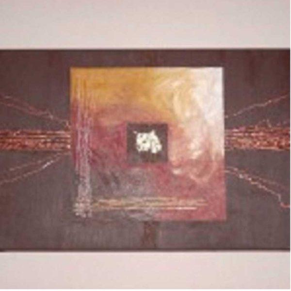 Tableau abstrait moderne marron