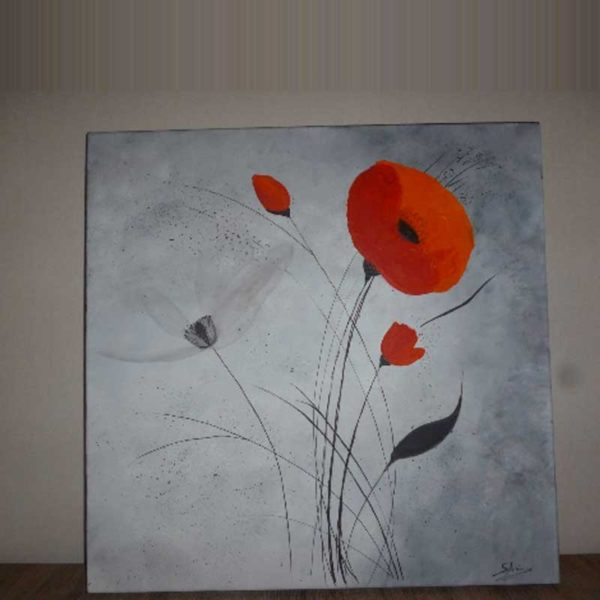 tableau moderne coquelicot