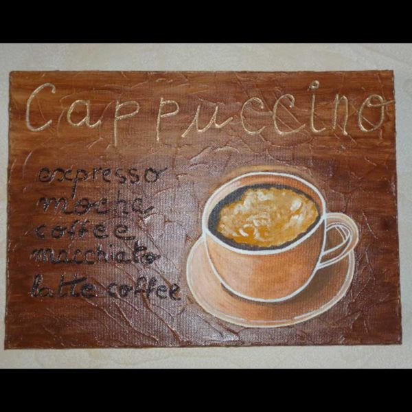 Tableau tasse à café