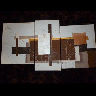 Tableau abstrait marron